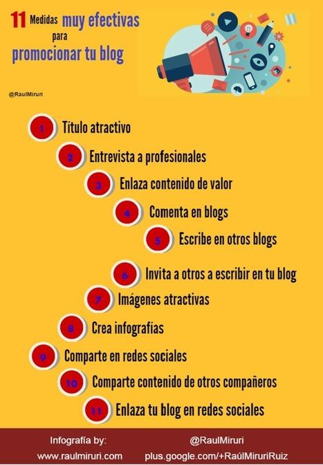 11 Medidas muy efectivas para promocionar tu blog.   Medical education   Scoop.it
