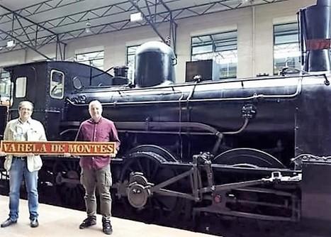 Colocación de la placa en la locomotora Varela de Montes | Caminhos de Ferro Vale da Fumaça | Scoop.it
