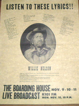 Willie Nelson, The Boarding House, San Francisco (1975) | www ... | Texas Music | Scoop.it