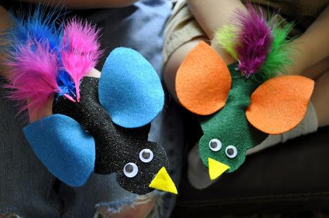 I HEART CRAFTY THINGS: Bright Bird Finger Puppets   Trabalhos Manuais no Jardim de Infância   Scoop.it