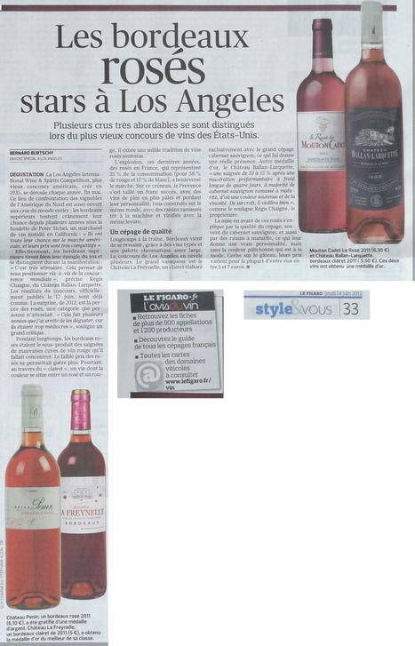 Château Ballan-Larquette Médaille d'Or à Los Angeles via @Burtschy @Le_Figaro (14 juin 2012) | Nombrilisme | Scoop.it