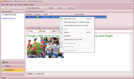 How to Keep a Diary with Efficient Diary Pro | Efficient Software | Scoop.it