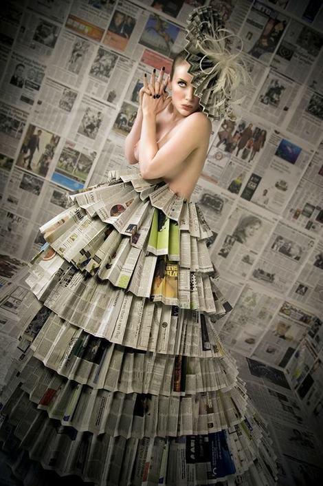 Как сделать платье из газет
