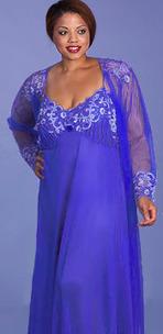 Plus Size Lingerie   Stunning Cobalt Nightgown Peignoir   Lingerie Love   Scoop.it