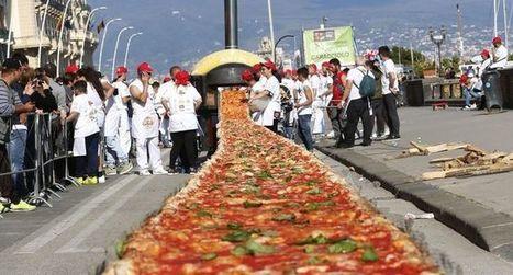 200 litres d'huile d'olive pour la plus longue pizza du monde !   OLIVE NEWS   Scoop.it