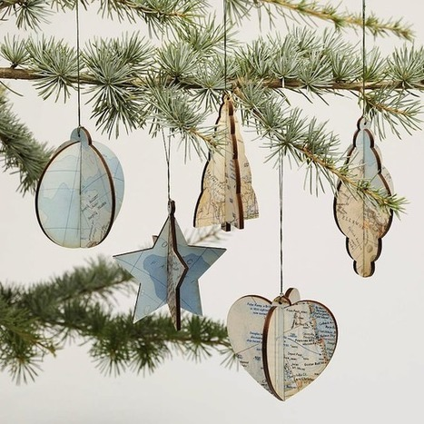 Well-mapped Christmas Ornaments | 1001 Creative ideas ! | Scoop.it