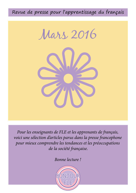 Revue de presse – mars 2016 | Ressources visuelles de FLE | Scoop.it