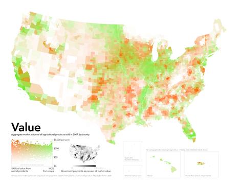40 maps that explain food in America | Theme 4: People & Development | Scoop.it