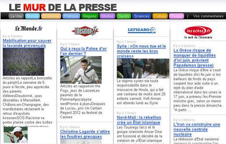 Le Mur de la Presse : Les titres des principaux journaux  sur une même page | TICE et Web 2.0 | Scoop.it
