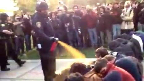 Fired campus cop who pepper-sprayed protesters gets $38K in workers' comp claims | PEOSource | Scoop.it