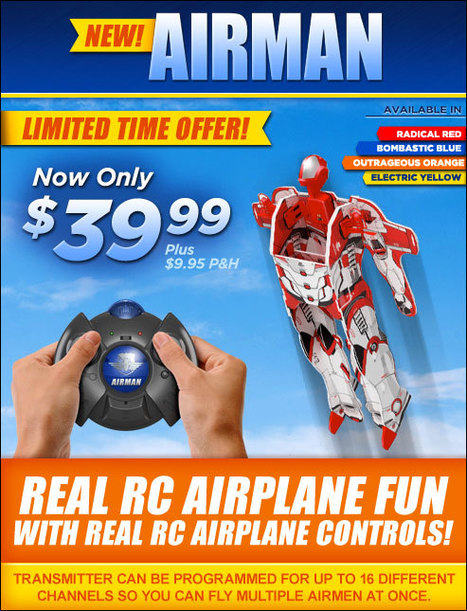 Airman Radio Controlled Super Hero | As Seen on TV | Scoop.it