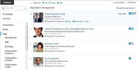 LinkedIn Contacts: The CRM Tool That Simplify Hotel Social Network Collaboration | Tourism Social Media | Scoop.it