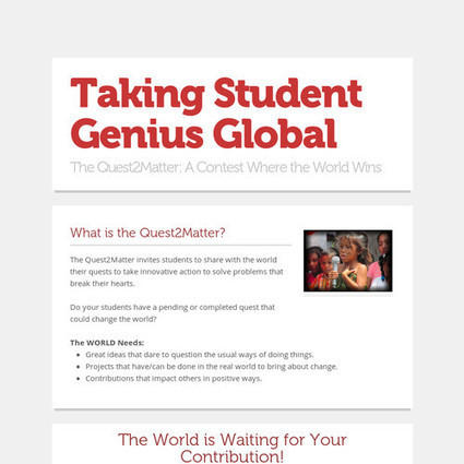 Taking Student Genius Global | Aprendiendo a Distancia | Scoop.it