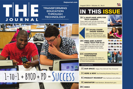 THE Journal : August 2014, Page 1 | Learning tools | Scoop.it
