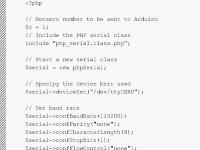 The basics of controlling an Arduino with PHP - Hack a Day   Arduino Focus   Scoop.it