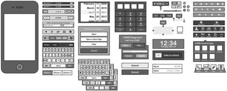 ZURB iPhone Omnigraffle Stencils & Sketchsheets - ZURB Playground - ZURB.com | Outils & Logiciels wireframing | Scoop.it