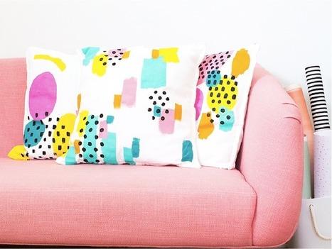 DIY : des coussins colorés et graphiques | Décoration | Scoop.it