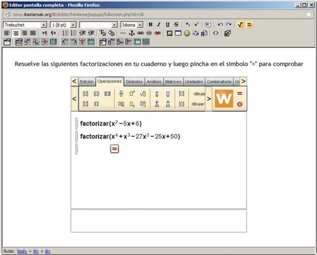 IDEA 12: Insertando WIRIS CAS en Moodle - Internet en el Aula | Educacion, ecologia y TIC | Scoop.it