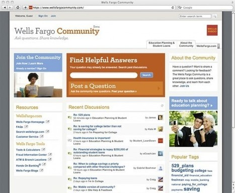 Wells Fargo Soft Sells Student Loans Through Social Media Forum | The Financial Brand: Marketing Insights for Banks & Credit Unions | International Business 2012 | Scoop.it