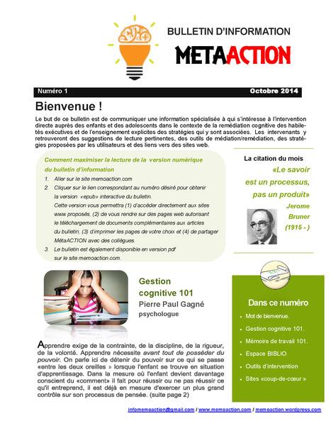 MétaAction Vol 1 no 1 / Octobre 2014 | GESTION COGNITIVE | Scoop.it