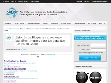 Enfoirés de Blogueurs : meilleure bannière Internet pour les dons des Restos du Coeur - Websourcing.fr   Geeks   Scoop.it