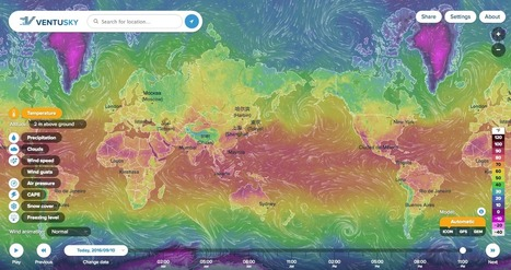 This gorgeous interactive world map visualizes real-time weather data | web maps | Scoop.it