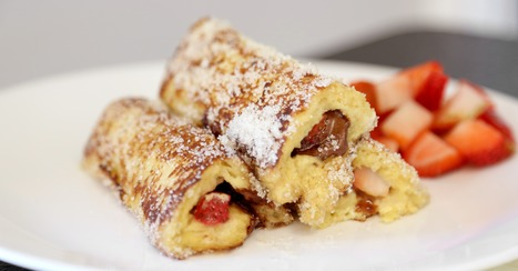 Strawberry-Nutella French Toast Roll-Ups Will Delight Your Inner Child | ♨ Family & Food ♨ | Scoop.it