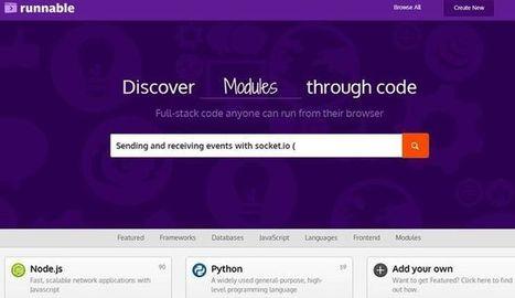 Runnable, buscador de código en múltiples lenguajes de programación | programacion | Scoop.it