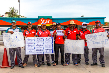 Cambodia : Caltex workers strike to demand $160 minimum wage in gas stations | South-East Asia Today | Scoop.it