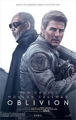 Tom Cruise e Morgan Freeman ilustram novos pôsteres da ficão científica Oblivion - Virgula (liberação de imprensa) | Paraliteraturas + Pessoa, Borges e Lovecraft | Scoop.it