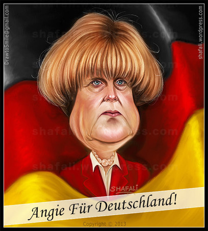 Angela Merkel wins the 2013 Elections to become Chancellor Once Again! | Caricatures | Scoop.it
