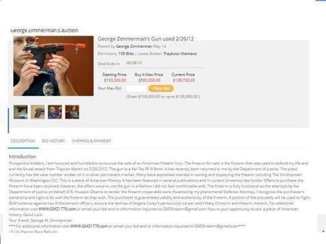 What The Zimmerman Gun Auction Means | politics | Scoop.it