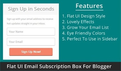 How To Add A Simple Flat UI Email Subscription Box For Blogger - Blogging Engage | Bloggiing Tips  and Tutorials | Scoop.it
