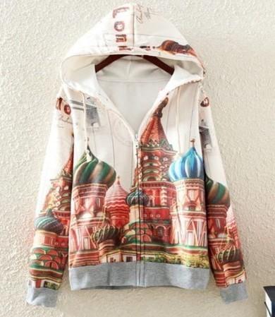 Cartoons plus velvet Taj Mahal hooded hoodie from yourfashionsandcute   top   Scoop.it