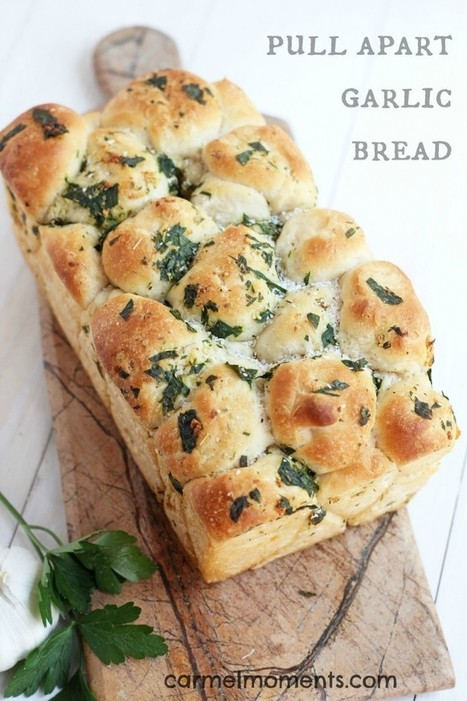 Pull Apart Garlic Bread | The Man With The Golden Tongs Hands Are In The Oven | Scoop.it