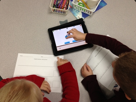 Literacy Center with Sentence Builder App | Tech in Kindergarten | Scoop.it