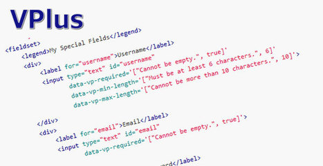 VPlus - jQuery Validation Plugins | Formulaires HTML5, CSS3 & jQuery | Scoop.it