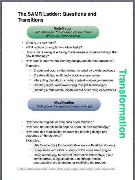 Improving the Journey - SAMR | SAMR Examples | Scoop.it