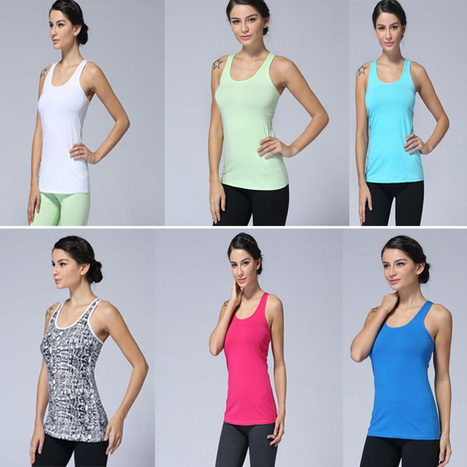 Hot Selling Women's Lulu Yoga Tops Colorful Solid Fashion Sports Tees High Quality Sexy Lady's Casual Workout Tanks Size: XXS-XL | CHICS & FASHION | Scoop.it