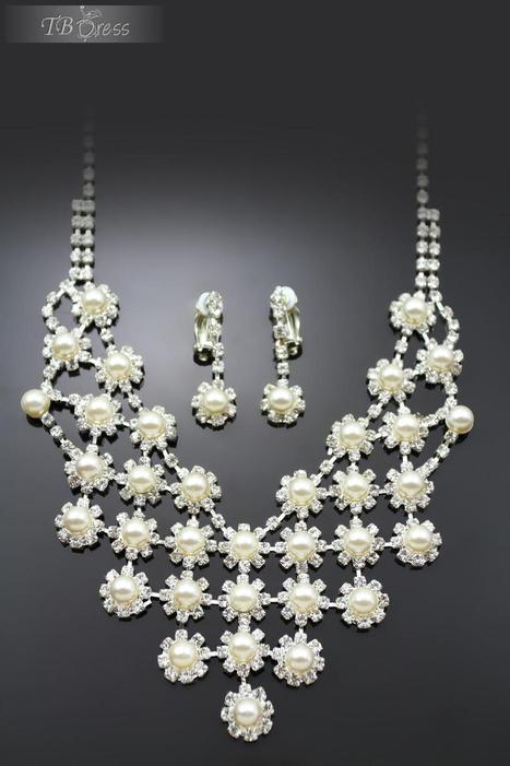 $ 37.99 String Alloy with Milky Pearl Wedding Jewelry Set(Including Necklace and Earrings) | fashion pants | Scoop.it