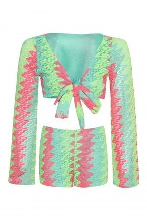 Woven Knit Lace Tie Knot Shrug Coordinate | Stylewise Direct | Women's Fashion Online | Scoop.it