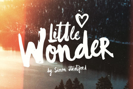 Little wonder font a handpainted brush script typeface | My Typefaces | Scoop.it
