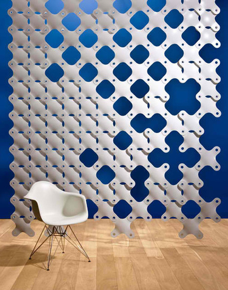 Hanging room divider with the unique and contemporary design from 3form | ideas for room | What Surrounds You | Scoop.it