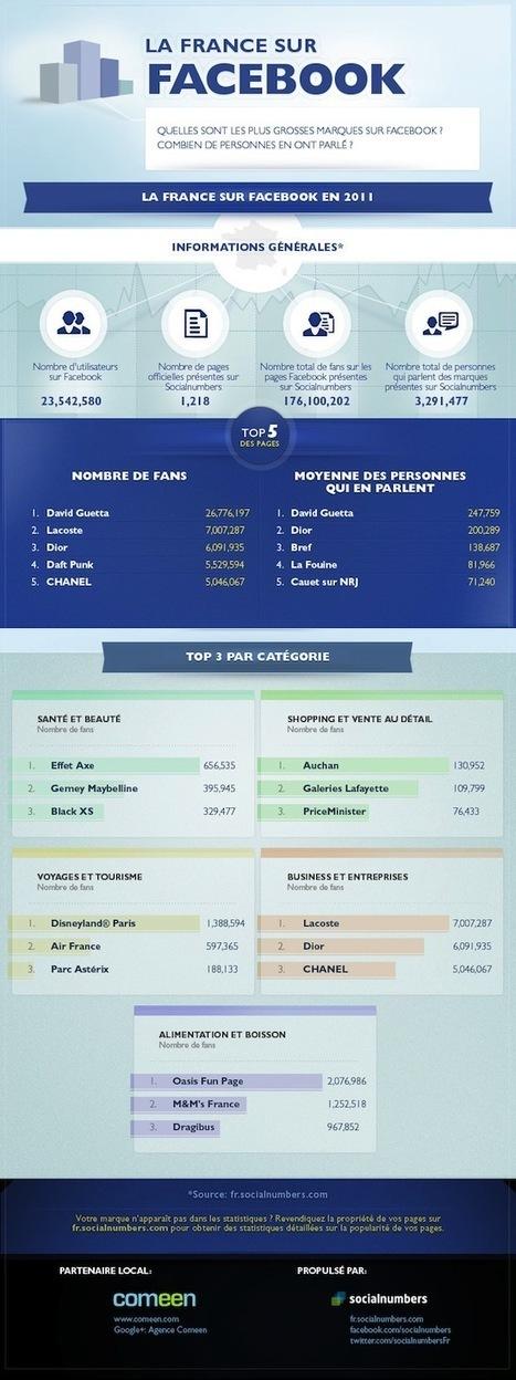 [Infographie] Les marques françaises les plus populaires sur Facebook | FrenchWeb.fr | Facebook pour les entreprises | Scoop.it