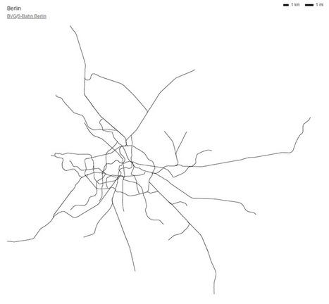 Les métros du monde dessinés à l'échelle | La boite verte | cartography & mapping | Scoop.it