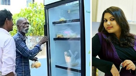Une restauratrice installe un réfrigérateur sur le trottoir… et l'ouvre à tous les SDF ! | Veille pour rire ou sourire | Scoop.it