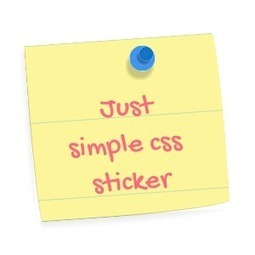 css3 only pinned sticker | Le Coding Debrief | Scoop.it