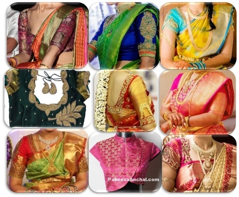 Top 20 Wedding Silk Saree Blouse Designs Patterns & Catalogue | Indian Fashion Updates | Scoop.it