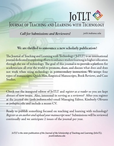New journal launched: Journal of Teaching and Learning with Technology (JoTLT) | Ben's Favorite Sites for Networking | Scoop.it