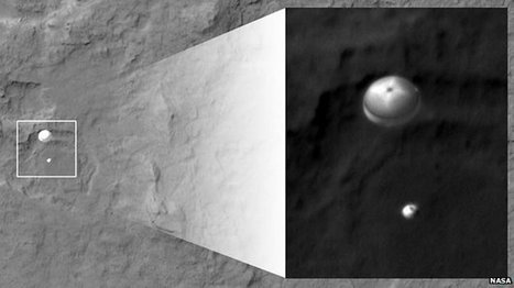 Photo shows Mars rover descent | Gavagai | Scoop.it